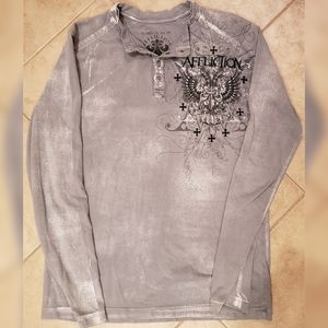 Men's Affliction Live Fast Long Sleeve Shirt M